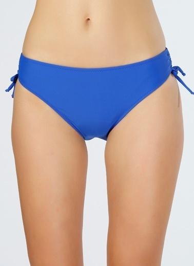 T-Box T-Box Büzgülü Saks Mavisi Bikini Alt Saks